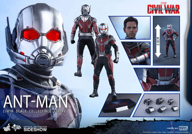Hot Toys Civil War Ant-Man figure -collage