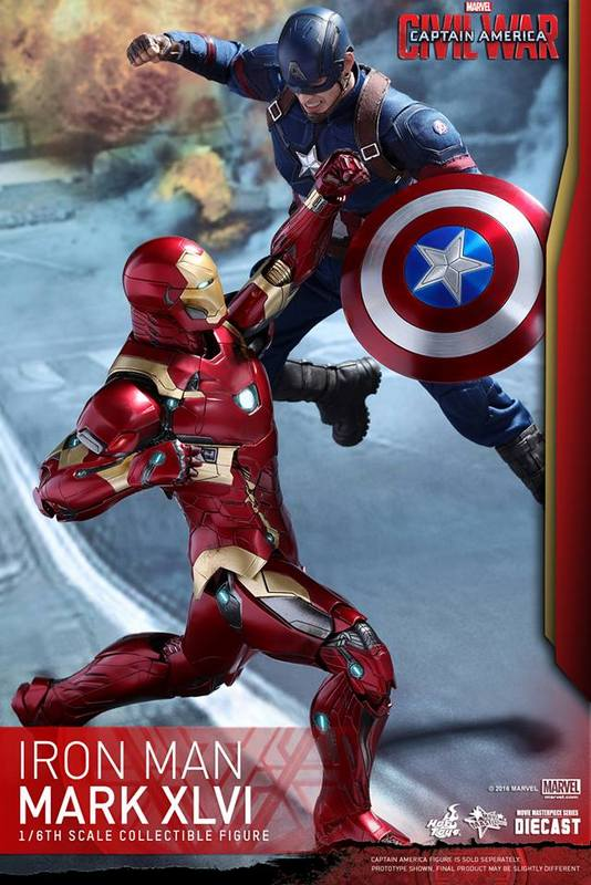 Hot Toys Civil War Iron Man -battling Captain America