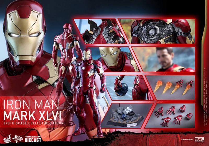 Hot Toys Civil War Iron Man -collage