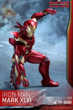 Hot Toys Civil War Iron Man -landing