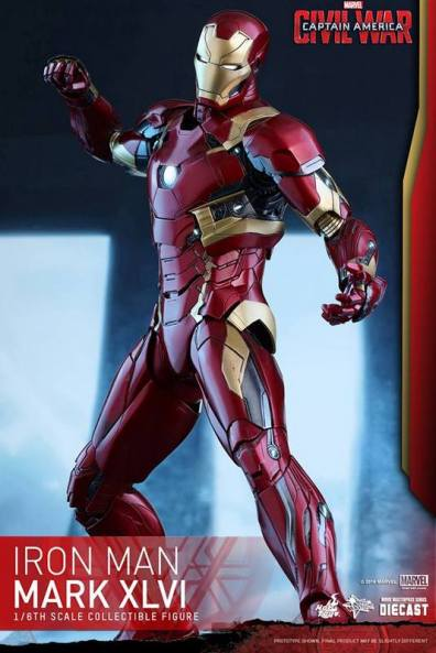 Hot Toys Civil War Iron Man -ready to fight