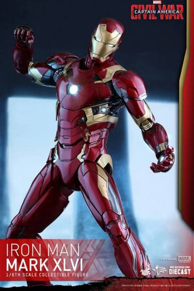 Hot Toys Civil War Iron Man -twisting