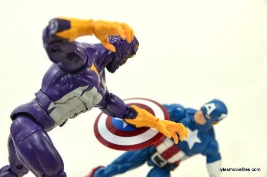 Marvel Legends Cottonmouth figure - battling Captain America