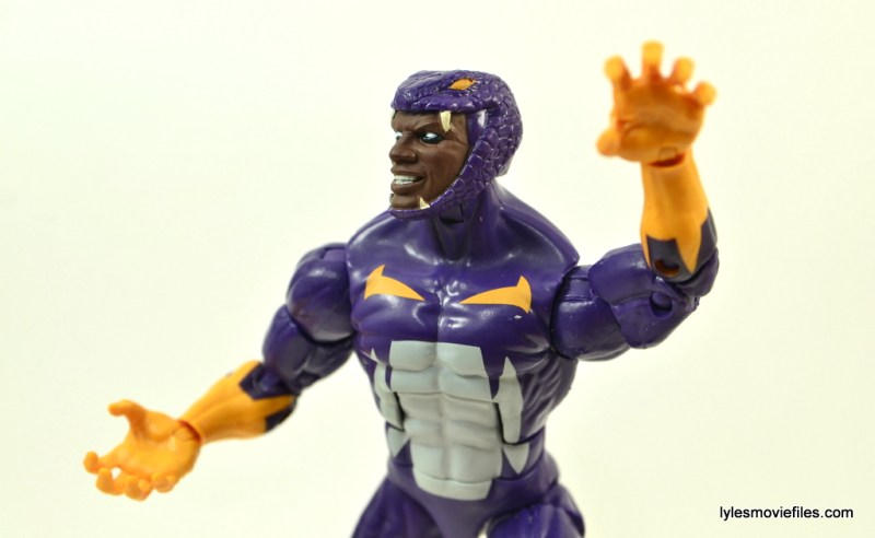 Marvel Legends Cottonmouth figure - close up
