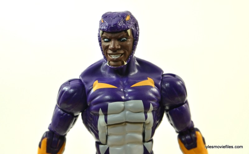 Marvel Legends Cottonmouth figure - headsculpt close up