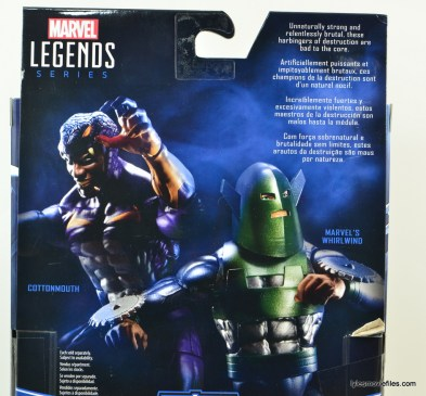 Marvel Legends Cottonmouth figure - rear package