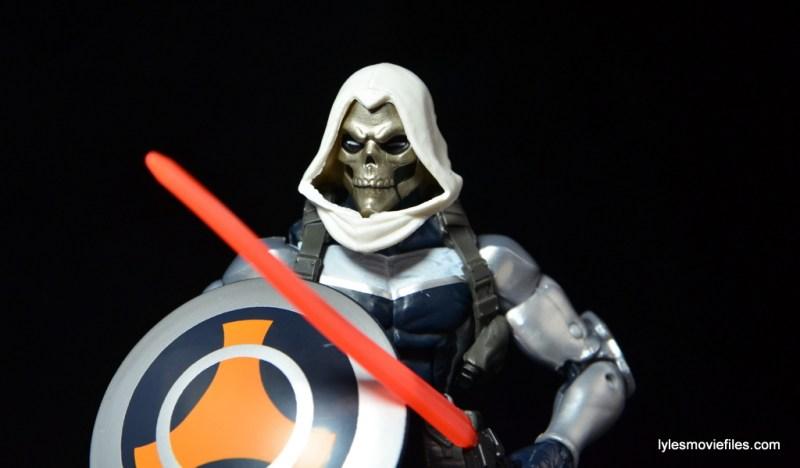 Marvel Legends Taskmaster figure -chest paint smudge