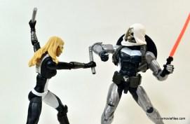 Marvel Legends Taskmaster figure -vs Mockingbird