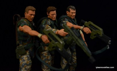 NECA Aliens Sgt Craig Windrix figure -aiming with Hicks and Hudson