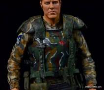 NECA Aliens Sgt Craig Windrix figure -body armor front detail