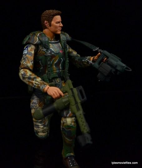 NECA Aliens Sgt Craig Windrix figure -checking equipment