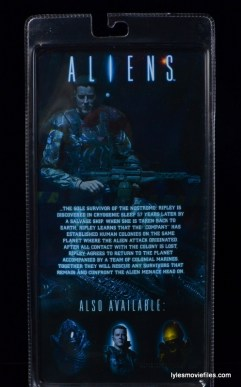 NECA Aliens Sgt Craig Windrix figure -package rear