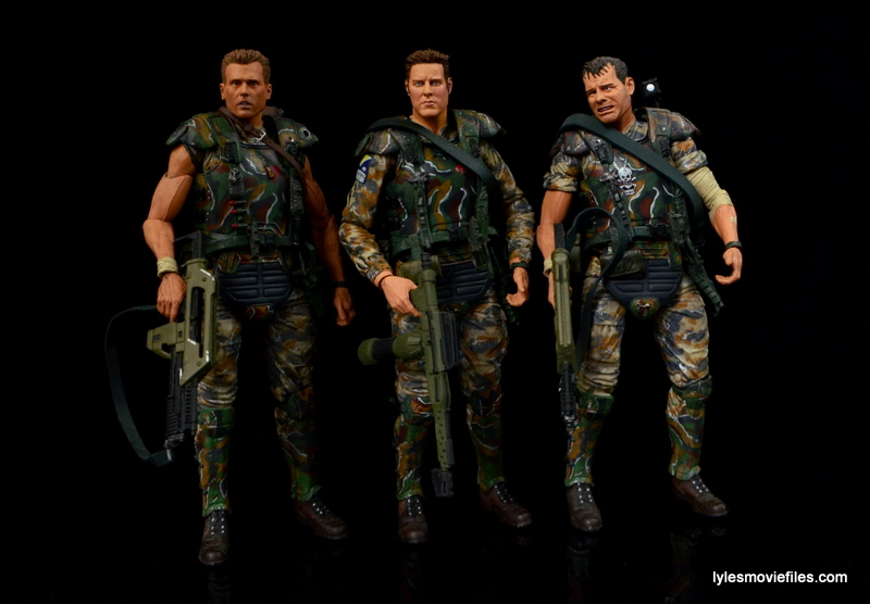 NECA Aliens Sgt Craig Windrix figure -with Hicks and Hudson