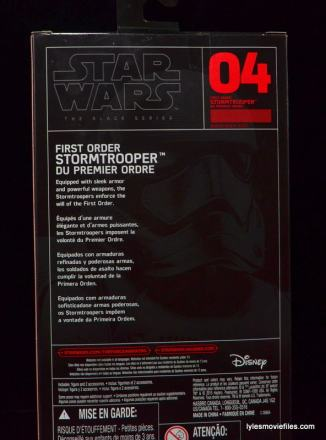 Star Wars The Force Awakens - The Black Series Stormtrooper review -package rear-min