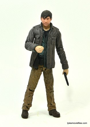 The Walking Dead Gareth figure review - holding pistol