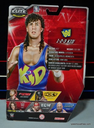 WWE 123 Kid figure review - rear package