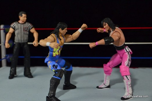 WWE 123 Kid figure review - squaring off with Bret Hart