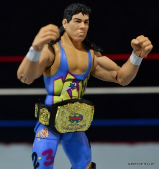WWE 123 Kid figure review - wearing title belt