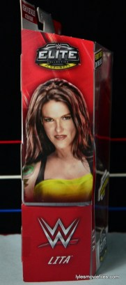 WWE Elite 41 Lita figure -side package