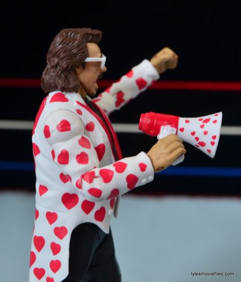 WWE Hall of Fame Jimmy Hart figure -megaphone detail-min