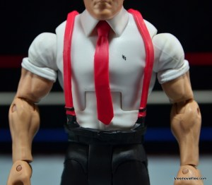 WWE IRS Mattel Elite figure review -IRS on shirt