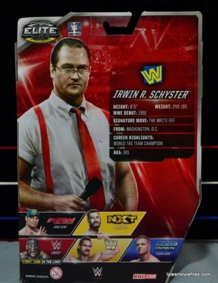 WWE IRS Mattel Elite figure review -bio