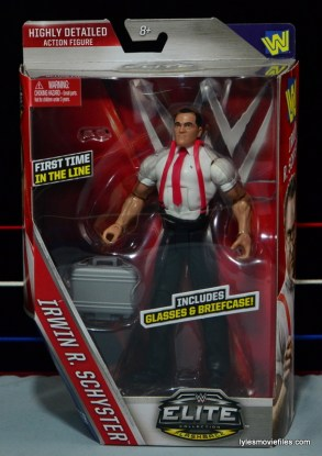 WWE IRS Mattel Elite figure review - front package