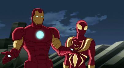 iron man and iron spider-man-min