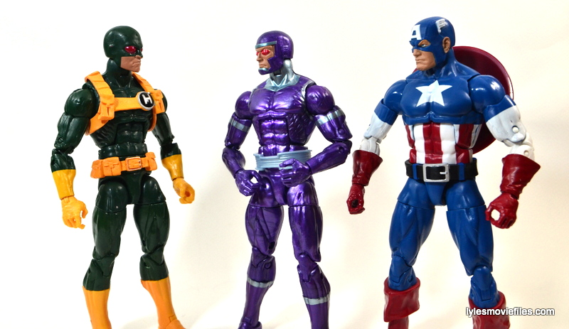 Captain America Hydra Soldier - scale with Machine Man and Captain America
