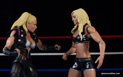 WWE Natalya figure review - facing off with Charlotte