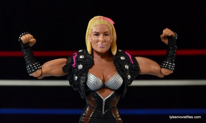 WWE Natalya figure review - flexing