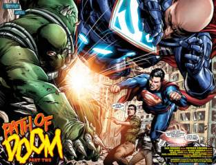 Action Comics issue 958_2-3 Superman and Lex Luthor vs Doomsday