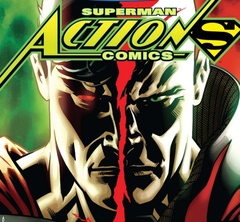 Action Comics issue variant cover close up