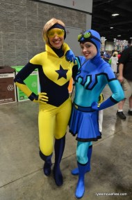 Awesome Con cosplay Day 2 -Booster and Beetle Blue and Gold