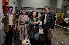 Awesome Con cosplay Day 2 -Finn, Rey, BB-8, General Leia and Han Solo