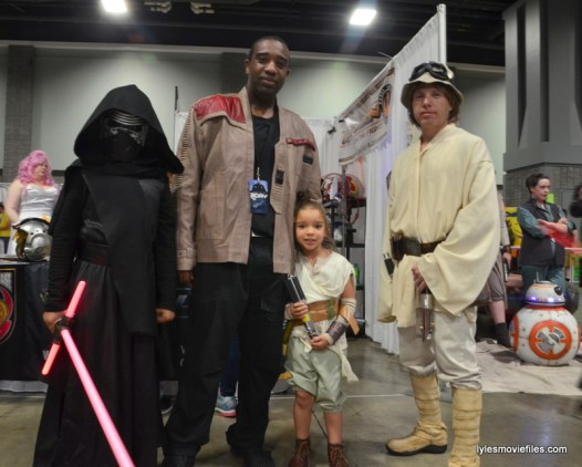 Awesome Con cosplay Day 2 -Kylo Ren, Finn, Rey and Luke Skywalker