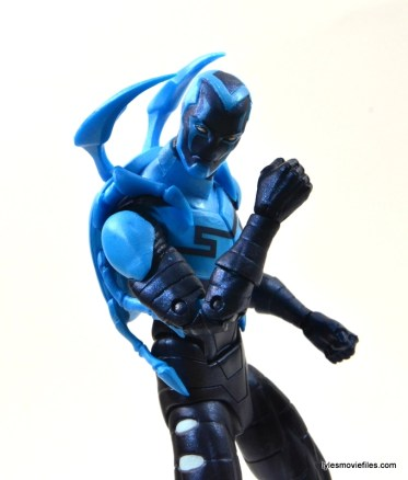 DC Icons Blue Beetle figure review -fist up