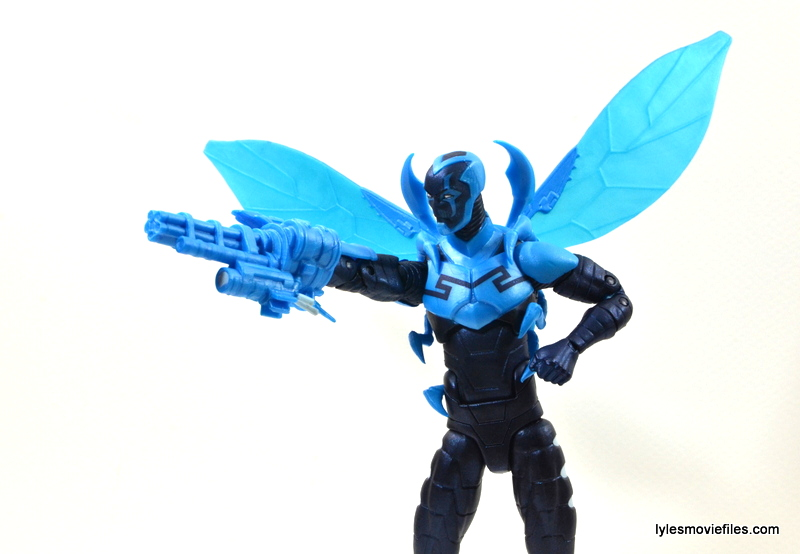 DC Icons Blue Beetle figure review -side shot aiming