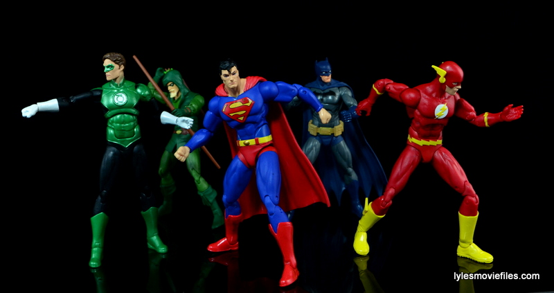 DC Icons Superman figure review - Green Lantern, Green Arrow, Superman, Batman and Flash