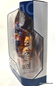 DC Icons Superman figure review - package left side