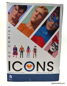 DC Icons Superman figure review - rear package