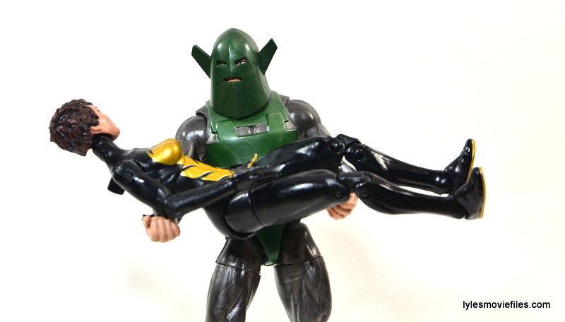 Marvel Legends Whirlwind figure review -carrying Wasp