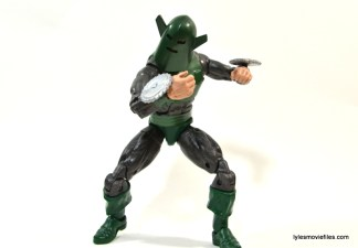Marvel Legends Whirlwind figure review -crouching