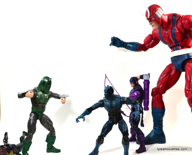 Marvel Legends Whirlwind figure review -vs The Avengers