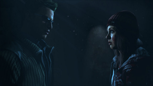 Until Dawn review - Chris and Ashley