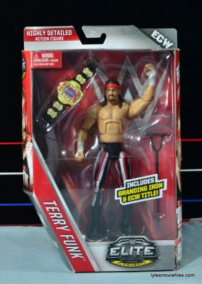 WWE Elite 41 Terry Funk figure review - front package