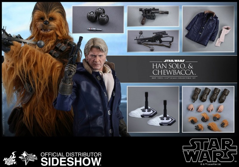 star-wars-the-force-awakens-han-and-chewbacca-sixth-scale-set-hot-toys-collage