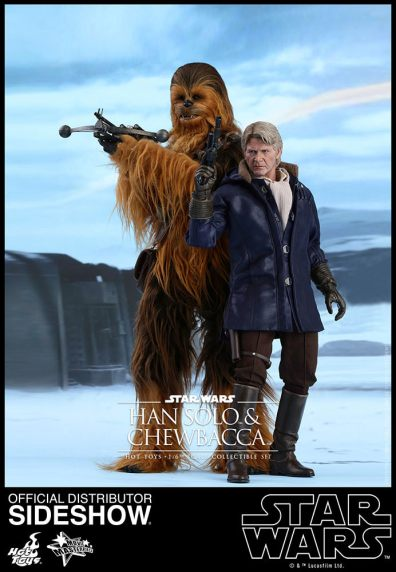 star-wars-the-force-awakens-han-and-chewbacca-sixth-scale-set-hot-toys-ready for action