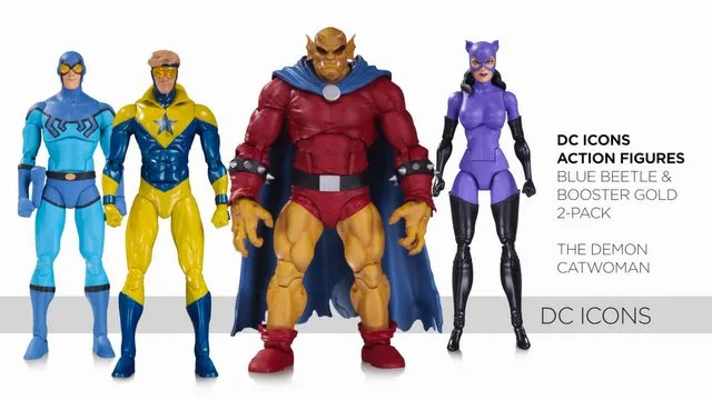 DC Icons 2 packs Blue Beetle and Booster Gold, Demon and Catwoman - Copy