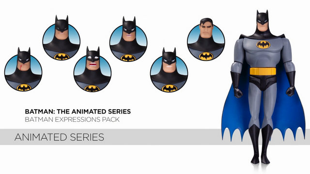 DCC Batman The Animated Series Batman expressions